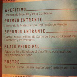 menu matanza